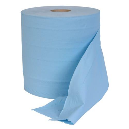 Bobine essuyage bleue 2 plis 1000 formats 26 x 35 cm photo du produit
