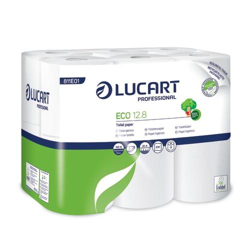 Papier toilette petit rouleau blanc 2 plis 200 feuilles 9,1 x 10 cm certifié Ecolabel photo du produit