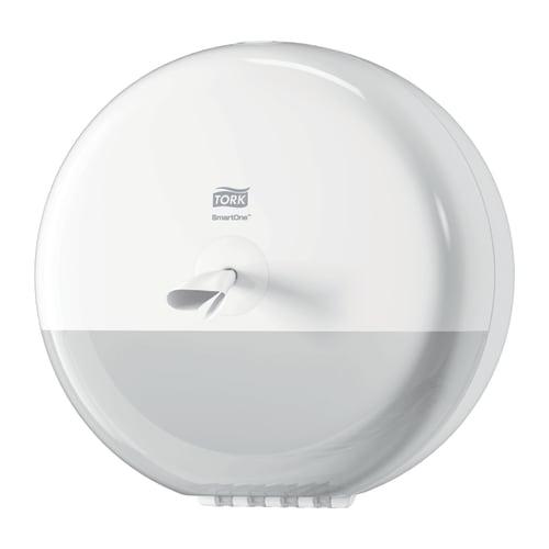 Distributeur de papier toilette rouleaux géant Smartone à dévidage central blanc photo du produit
