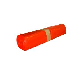 Sac plastique PE BD 110L rouge 95µm photo du produit