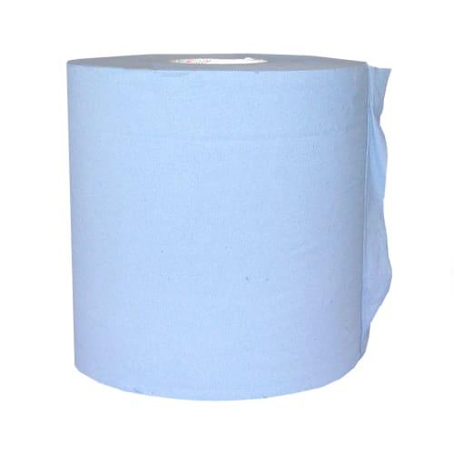 Essuyage dévidage central bleu 2 plis 450 formats 20 x 24 cm photo du produit