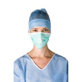 Masque médical Op R Splash type IIR vert à lanières photo du produit