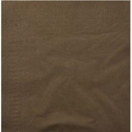 Serviette papier 2 plis 20 x 20 cm chocolat photo du produit