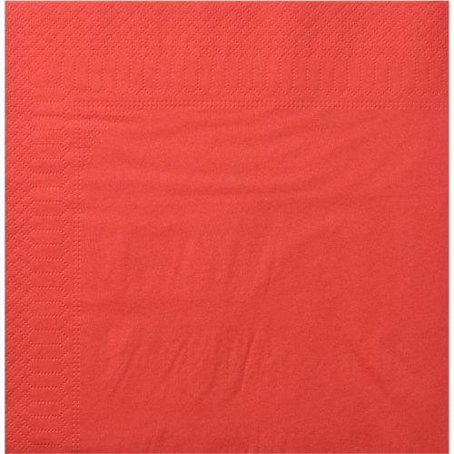 Serviette papier 2 plis 30 x 30 cm rouge photo du produit