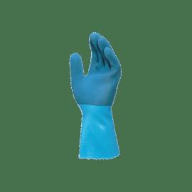 Gant de protection chimique latex granité support tissu Jersette 301 bleu taille 9 photo du produit