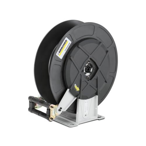 Tambour-enrouleur automatique en acier peint et plastique pour nettoyeurs haute pression Karcher photo du produit
