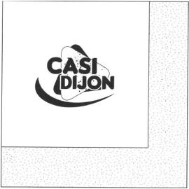 """Serviette papier 2 plis 30 x 30 cm blanc personnalisée """"CASI DIJON"""" photo du produit"""