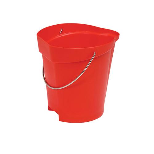 Seau gradué alimentaire PLP 12L rouge photo du produit
