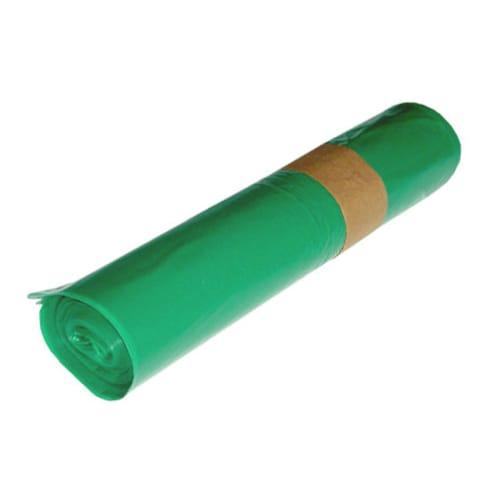 Sac plastique PE BD 100L vert 40µm NFE photo du produit