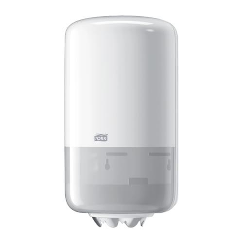 Distributeur d essuyage dévidage central blanc M1 petit modèle photo du produit