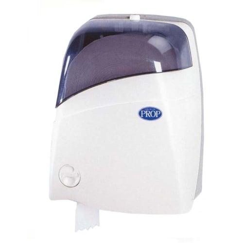 Distributeur de papier toilette Sanit 3 blanc pour rouleaux mini-géants photo du produit