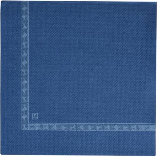 Serviette papier 2 plis 38 x 38 cm bleu marine motif olympia photo du produit