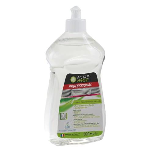 Actae Verde liquide vaisselle plonge manuelle certifié Ecolabel flacon de 500ml photo du produit