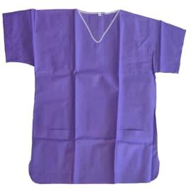 Tunique de pyjama SMS 35g/m² antistatique manches courtes 2 poches basses violet taille L photo du produit