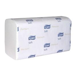 Essuie-mains plié blanc TAD 2 plis 23 x 23 cm certifié Ecolabel photo du produit
