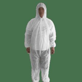 Combinaison PLP 40g/m² élastiques cagoule poignets taille chevilles blanc taille XL photo du produit