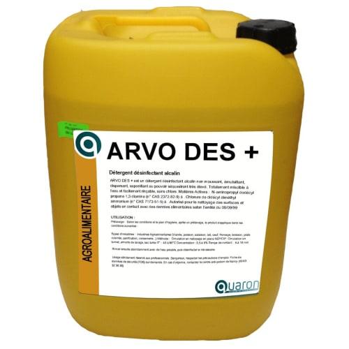 Arvo Des + détergent désinfectant bidon de 25kg photo du produit