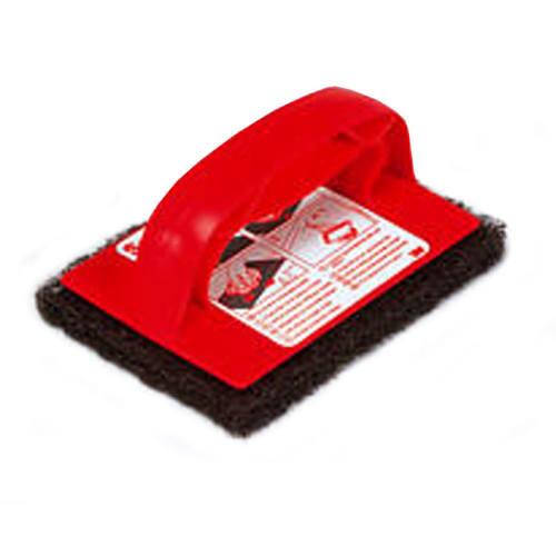 Poignée avec tampon abrasif noir 10,1 x 15,2 cm photo du produit