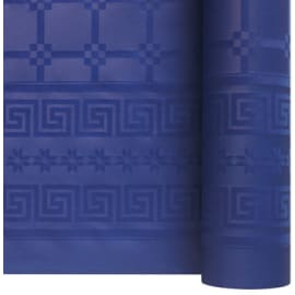 Nappe de table papier damassé 1,20 x 50 m bleu marine photo du produit