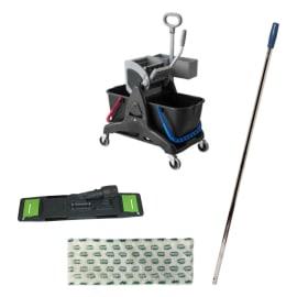 Kit chariot de lavage avec support frange manche et presse photo du produit