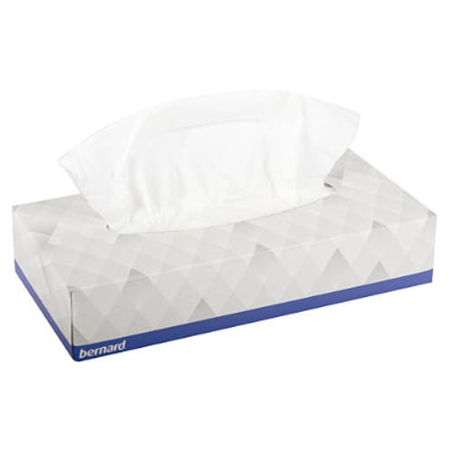Boites de mouchoirs blancs marque Bernard photo du produit