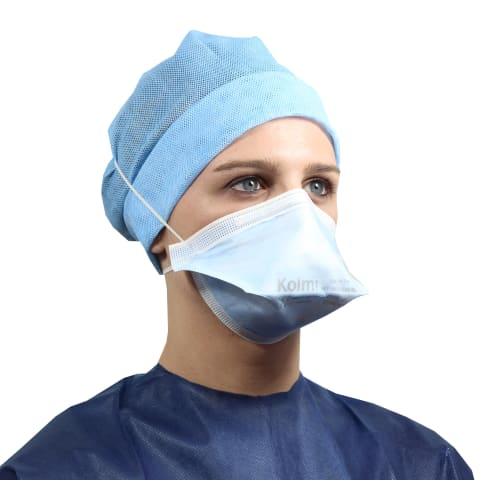 Masque médical et de protection Op-Air Pro OXYGEN FFP2 NR D type IIR bleu en vrac photo du produit