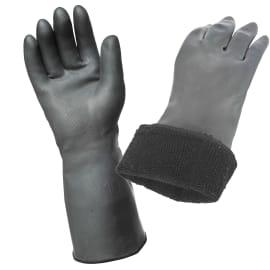 Gant protection froid et chaud Néo fourré acrylique enduction néoprène noir 38cm taille 9 photo du produit