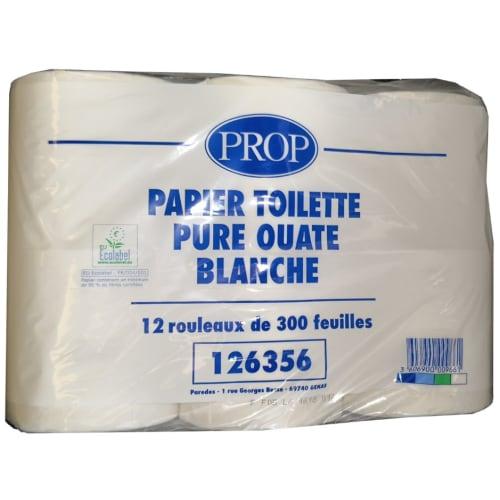 Papier toilette petit rouleau blanc 2 plis 300 feuilles 9,6 x 11 cm certifié Ecolabel photo du produit