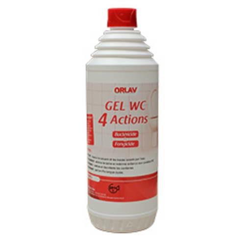 Orlav gel WC 4 actions nettoyant détartrant désodorisant désincrustant flacon de 1L photo du produit