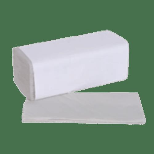 Essuie-mains plié blanc 2 plis 21 x 23 cm certifié Ecolabel photo du produit