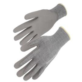 Gant protection coupures indice B (3/5) polyéthylène haute densité gris enduction PU gris taille 9 photo du produit