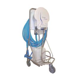 Chariot inox 3 roues pour centrale de dosage photo du produit