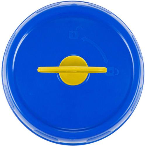 Bouchon bleu à clé grise photo du produit