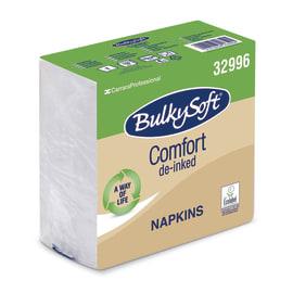 Serviette papier 1 pli 30 x 30 cm blanc certifiée Ecolabel photo du produit
