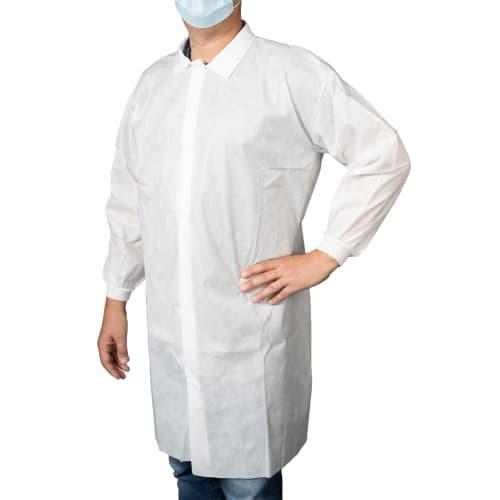 Blouse de travail Propguard pressions blanc taille XL photo du produit