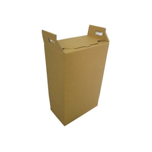 Carton hospitalier non normé 50L bas lien détachable kraft photo du produit