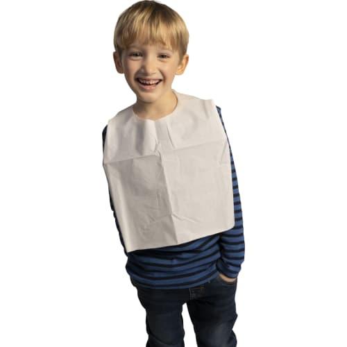 Bavoir enfant plastifié 45g/m² à liens photo du produit
