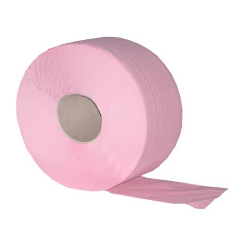 Papier toilette rouleau mini géant rose 2 plis 160m 9,5 x 17,5 cm certifié Ecolabel photo du produit