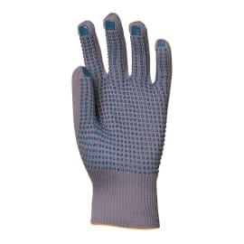 Gant de manutention nylon gris picots bleus sur paume taille 9/10 photo du produit
