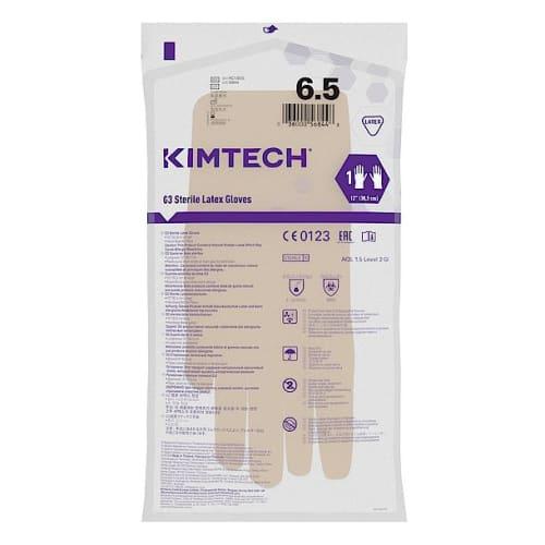 Gant de protection chimique latex stérile Kimtech Pure G3 30cm taille 6,5 photo du produit Side View L