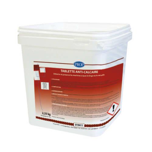 PROP tablette anti-calcaire pour le lavage du linge dose de 18g photo du produit