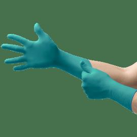 Gant de protection chimique nitrile Microflex 93-260 vert non poudré taille L photo du produit