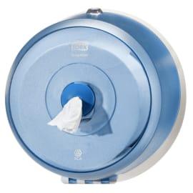 Distributeur de papier toilette rouleaux mini géant Smartone à dévidage central bleu photo du produit