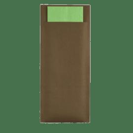 Pochette couverts chocolat/pistache photo du produit