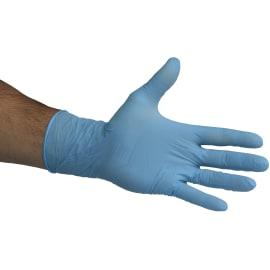 Gant de protection chimique nitrile PROP Optifirm 300 bleu non poudré 30cm taille M photo du produit