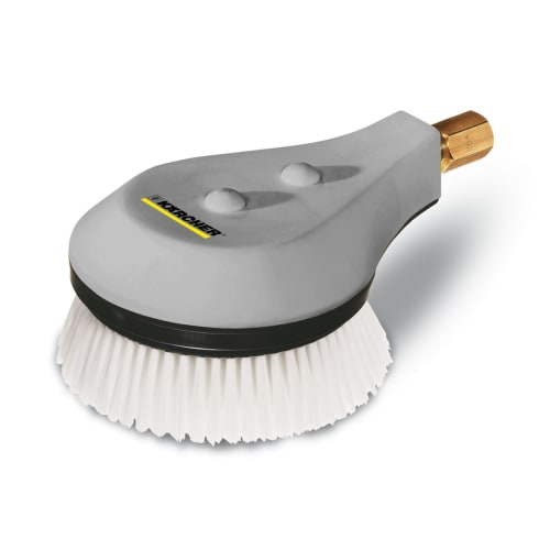 Brosse de lavage blanche rotatif pour nettoyeur haute pression Karcher photo du produit