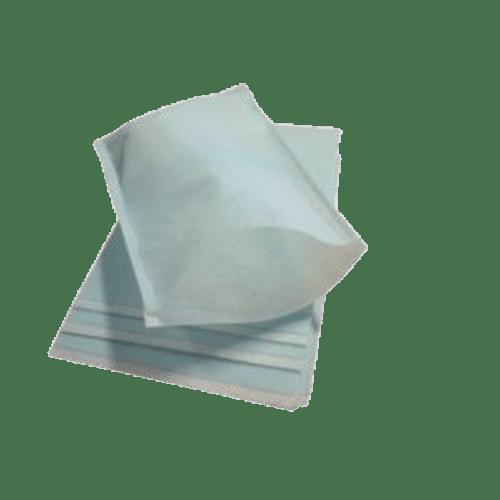 Gant de toilette non-tissé imprégné blanc/bleu 15,6 x 23 cm photo du produit
