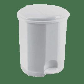 Poubelle plastique à pédale 11L blanc photo du produit