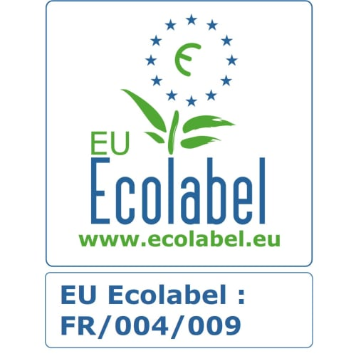 Papier toilette rouleau mini géant blanc 2 plis 180m prédécoupé 8,5 x 24 cm certifié Ecolabel photo du produit Back View L