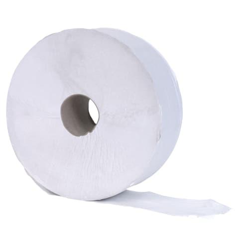 Papier toilette rouleau géant blanc 1 pli crêpé 600m continu photo du produit
